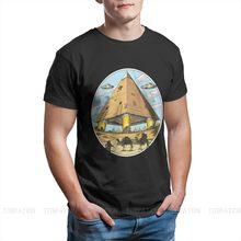 Alien pirâmides ufo gráfico streetwear mitologia egípcia deuses antigos atum horus osiris camiseta algodão puro topos de grandes dimensões