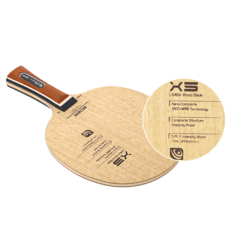 Купить с кэшбэком BOER X5 Table Tennis Sports Paddle Shakehand/Penhold Grit Ping Pong Training Bat