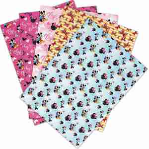 30*136cm 1pc Faux Synthetic Leather Fabric flowers Printed Sheet For Needlework Home Textile DIY Hair Bows Crafts L351(China)