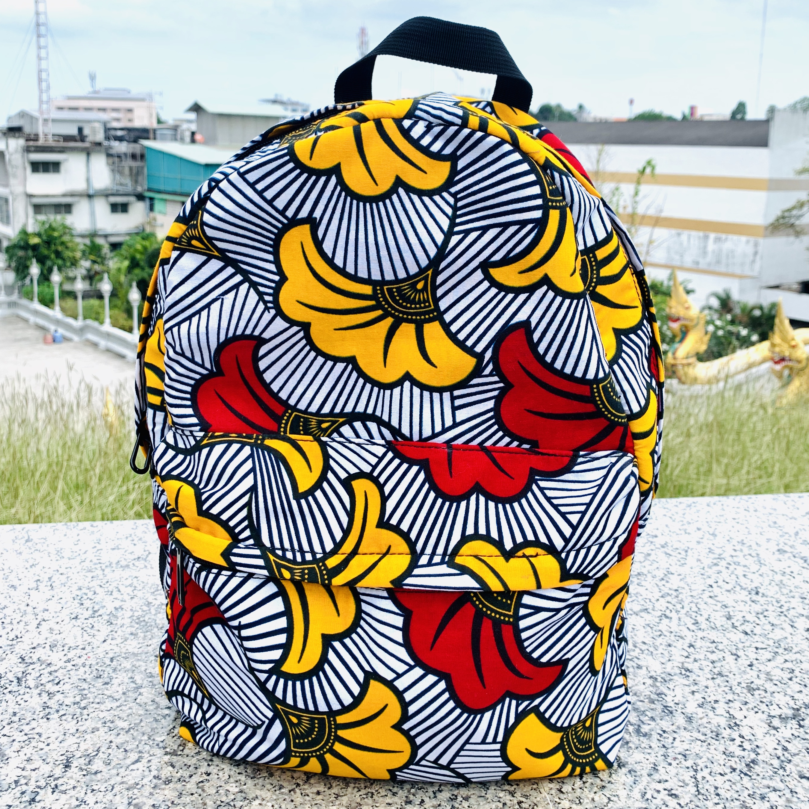 Fashion Ankara Bag  Wax High Quality Bag African Ankara Backpack African Bag African Schoolbag  Printed Waterproof Bagpack