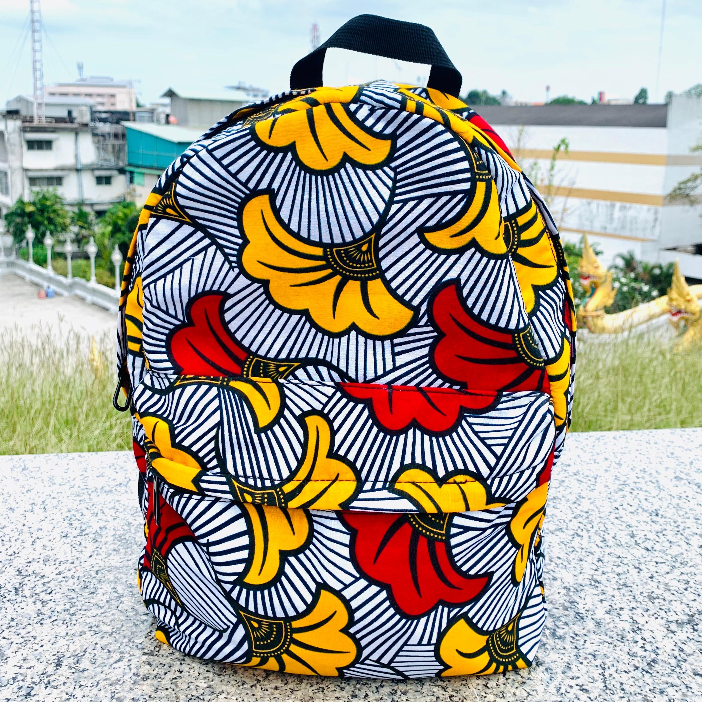 Fashion Ankara Bag  Wax High Quality Bag African Ankara Backpack African Bag African Schoolbag  Printed Waterproof Bagpack
