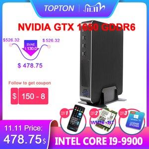 Image 1 - Gaming Computer Desktop PC Core i9 9900 i7 9700 i5 9400F GTX 1650 4GB GDDR6 2*DDR4 Windows Mini PC HDMI2.0 4K HTPC Game PC WiFi