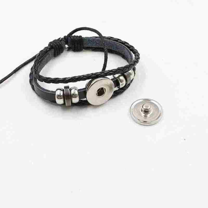 干支魔術クリスタルガラスブレスレットヨーロッパとアメリカ織革の宝石