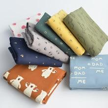 ZENGIA-franela de algodón de 50x140cm para la fabricación de ropa, flores de tela, corazón, estrellas, flores, animales, de trapo cepillado, para Otoño e Invierno