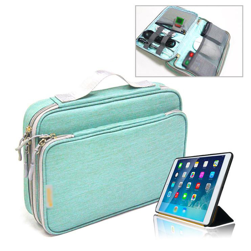 Waterproof Electronics Accessories Organizer Travel Bag Cable Organizer Laptop Protective Case Cover Bag Storage For IPad Mini