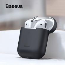 Чехол Baseus для наушников AirPods, Цветной силиконовый чехол для AirPods 2, 1 чехол, беспроводной Bluetooth чехол для наушников Airpods