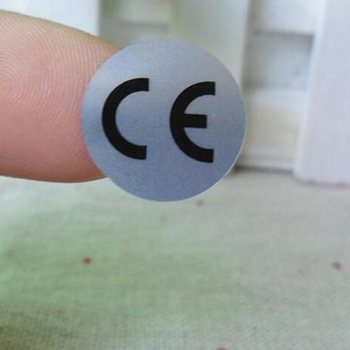 500pcs 10MM DIAMETER CE Stickers Matte Silver Adhesive Waterproof - discount item  5% OFF Stationery Sticker