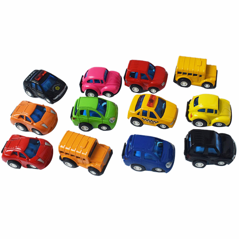 12PCS Set Toy Pull  Racing Car Back Vehicles Mini Diecast Toy Taxi Model Cars Gift Children Boys Play Set For Toddlers Kids Toys
