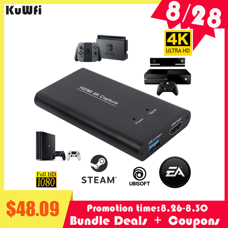Kuwfi Card-Dongle Video-Capture Game-Streaming HDMI Broadcast To 4k60hz USB USB3.0