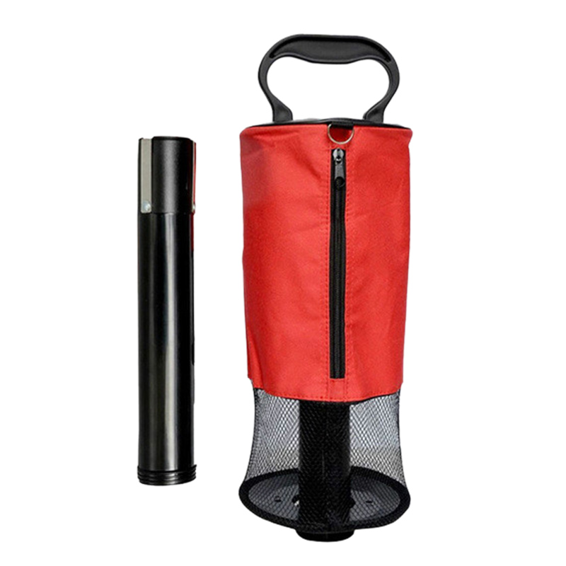 Golf Net Bag Pick-Up Tube Easy To Disassemble Golf Ball Golfer Practice Training Collector Golf Accessories-Red