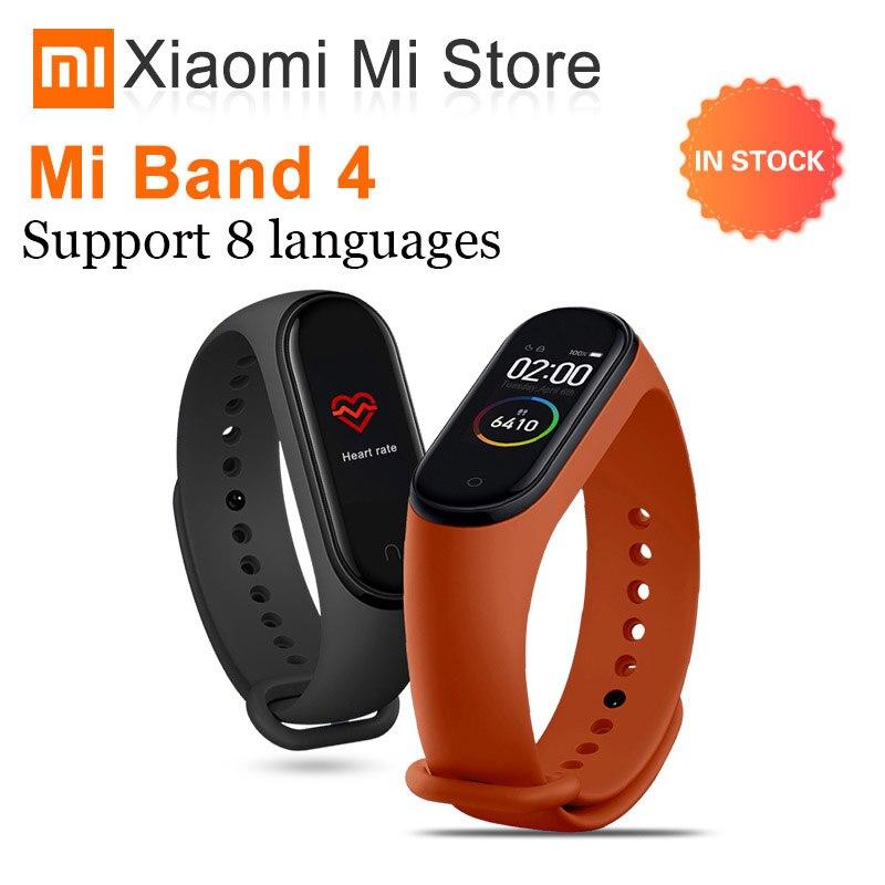 Original xiaomi mi bande 4 Bracelet intelligent mi bande 4 Bracelet fréquence cardiaque Fitness 135mAh couleur écran Bluetooth 5.0 xiaomi mi bande-in Bracelets connectés from Electronique    1