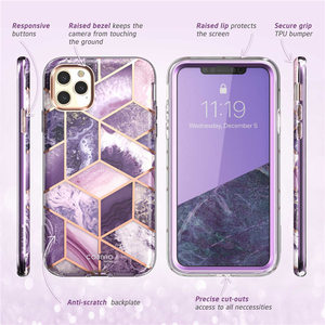 Image 5 - I BLASON For iPhone 11 Pro Max Case 6.5 inch (2019) Cosmo Full Body Glitter Marble Bumper Case with Built in Screen Protector