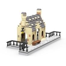 Train Bricks Station Streetview Model Set House Building Blocks Bricks DIY Assembly Educational Europe Toys For Kids Gift 496pcs