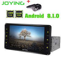 JOYING 1 din car radio Android 8.1 6.2 inch 4GB*64GB head unit support 4G/fast boot/SWC/DSP GPS tape recoder autoradio with DVR