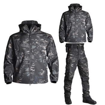 Hiking Army Jackets Men Military Airsoft Camping Tactical Jacket Winter Shark Skin SoftShell Waterproof Jacket Windbreaker tad army camouflage men jacket coat military tactical jacket winter army waterproof soft shell jackets windbreaker hunt clothes