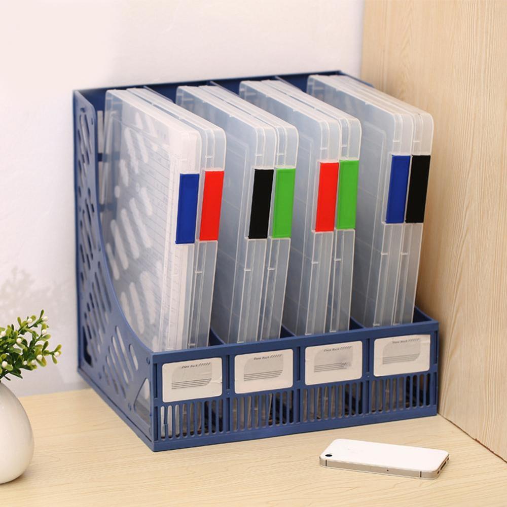 Transparent Storage Box Clear Plastic Document Paper Filling Case A4 File Box