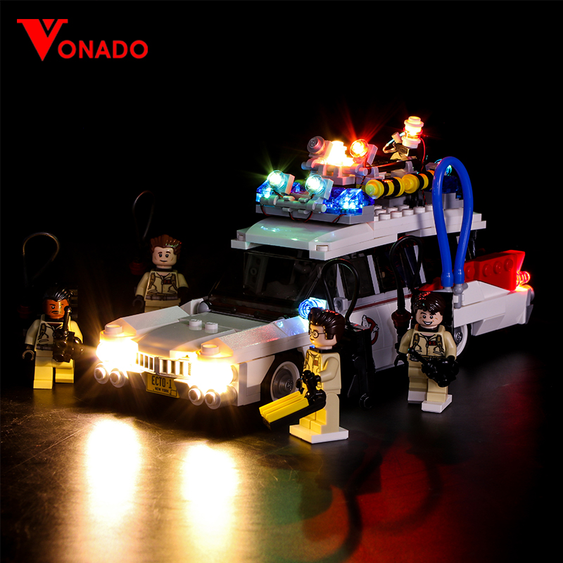 Светодиодный светильник, совместимый с Lego 21108 Ghostbusters, строительный кирпич с кубиками, 16032 игрушек, светильник с аккумуляторной коробкой
