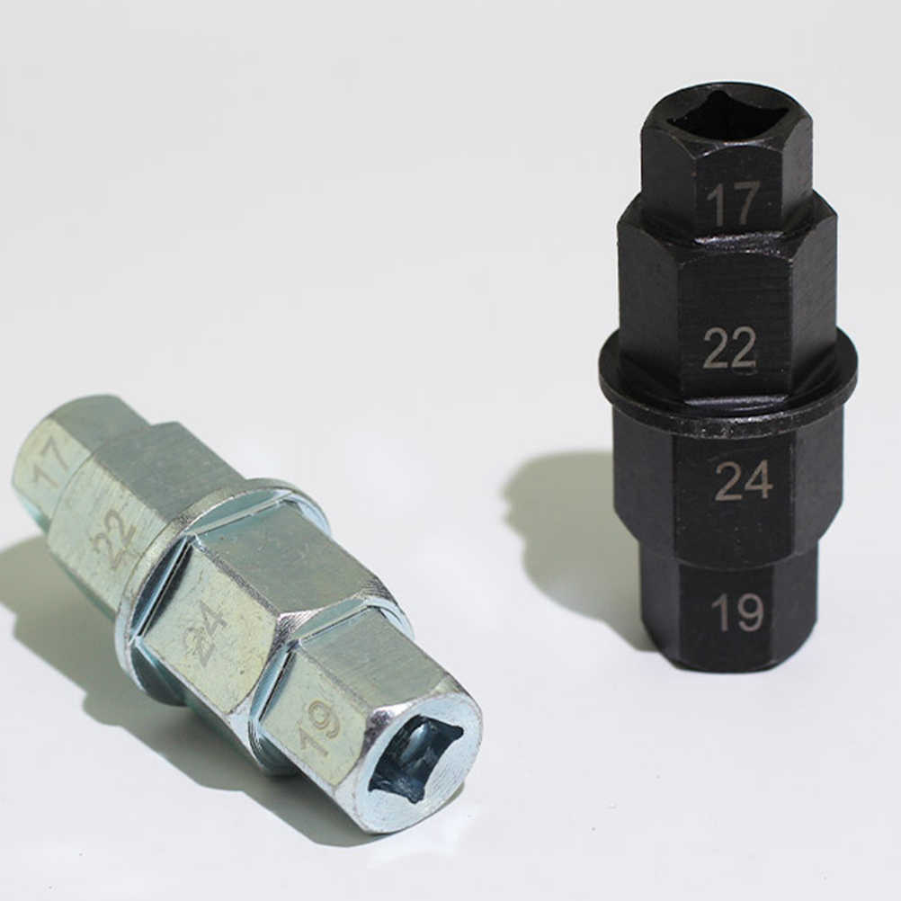 Hex Axle Tool 1Pc Motorcycle Front Wheel 17mm 19mm 22mm 24mm Axle Hex Allen Spindle Driver Socket Adapter Tool