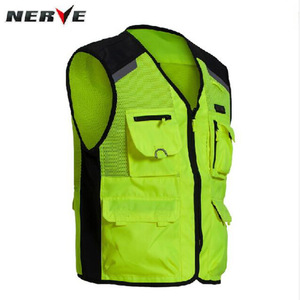 Image 2 - 2020 New  Fashion Germany Motorcycle Riding Fluorescent Safety Vest Knight Reflective Vest suit protector of 3D Mesh 600D Oxford