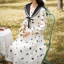 Женское Повседневное платье в стиле ретро с цветочным рисунком