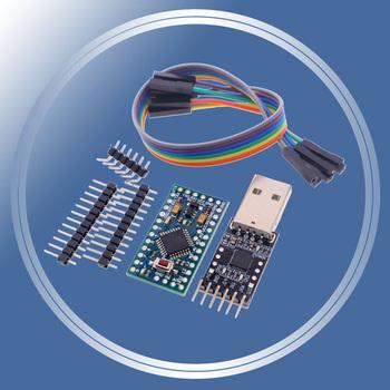 Darmowa wysyłka 1 sztuk 6pin CP2102 moduł + 1 sztuk Pro Mini moduł Atmega328 5V 16M dla Arduino kompatybilny z Nano tanie i dobre opinie sincere promise Nowy Regulator napięcia