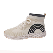 YeddaMavis Shoes Beige Sock Sneakers Women New Korean Lace Up Womens Woman Trainers Zapatos De Mujer