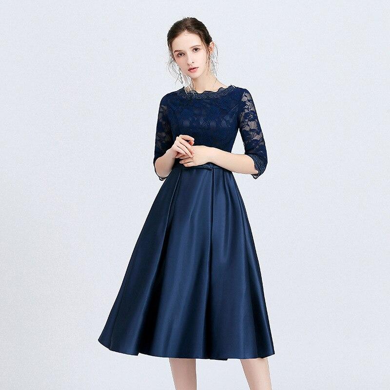 Custom-made Women's Short Slender Look Lace Evening Dress Robe De Soiree/вечернее платье/vestidos De Fiesta De Noche