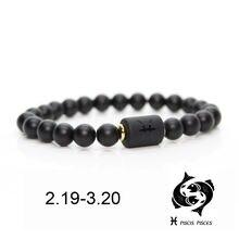 Браслеты для мужчин и женщин ювелирные украшения с черными камнями