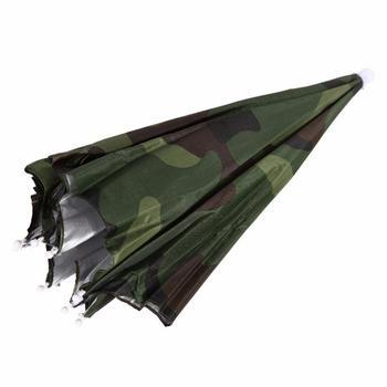 Portable Rain Umbrella Hat Army Green Foldable Outdoor Pesca Sun Shade Waterproof Camping Fishing Headwear Cap Beach Head Hats 5