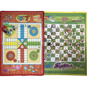 Folding Ludo Chess Snake Chess Toys For Children Portable Snakes And Ladders Puzzle Educational Interactive Game Training Toys(China)