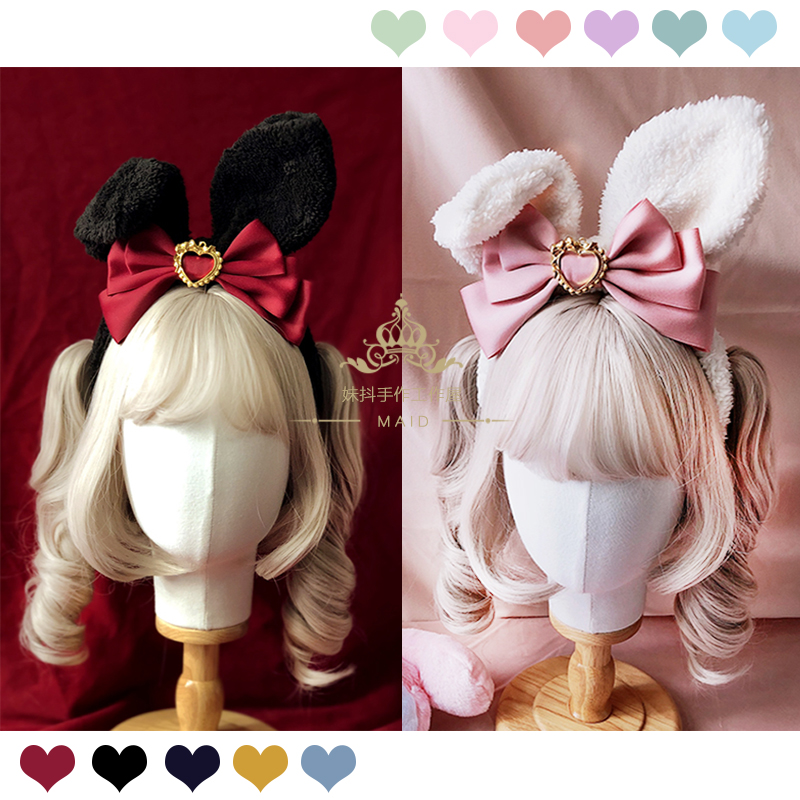 Rabbit ears series Lolita bow headband kc super multicolor wild sell Meng artifact