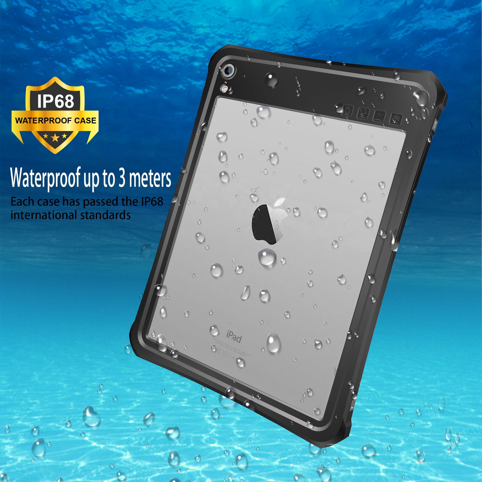 For <font><b>iPad</b></font> Pro 11 2018 IP68 Waterproof <font><b>Case</b></font> Tablet Cover Anti-Scratch Full Screen Protector Shockproof Cover For <font><b>iPad</b></font> Pro11 <font><b>Case</b></font> image