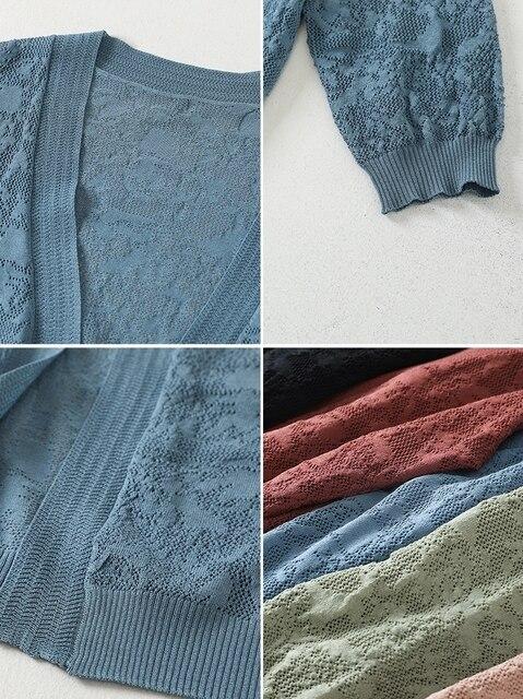 Jackets For Women 2021 Summer Cardigan Woman Jacket Half Sleeve Jacket Women V-Neck Jacket Coat Women Jackets Clothes D699 6