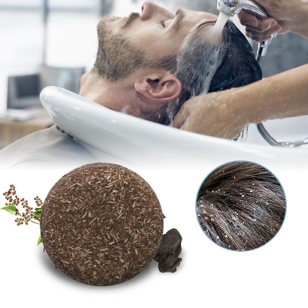 New Polygonum Essence Hair Darkening Shampoo Bar Soap Natural Mild Formula Hair Shampoo Gray Hair Reverse Hair Cleansing