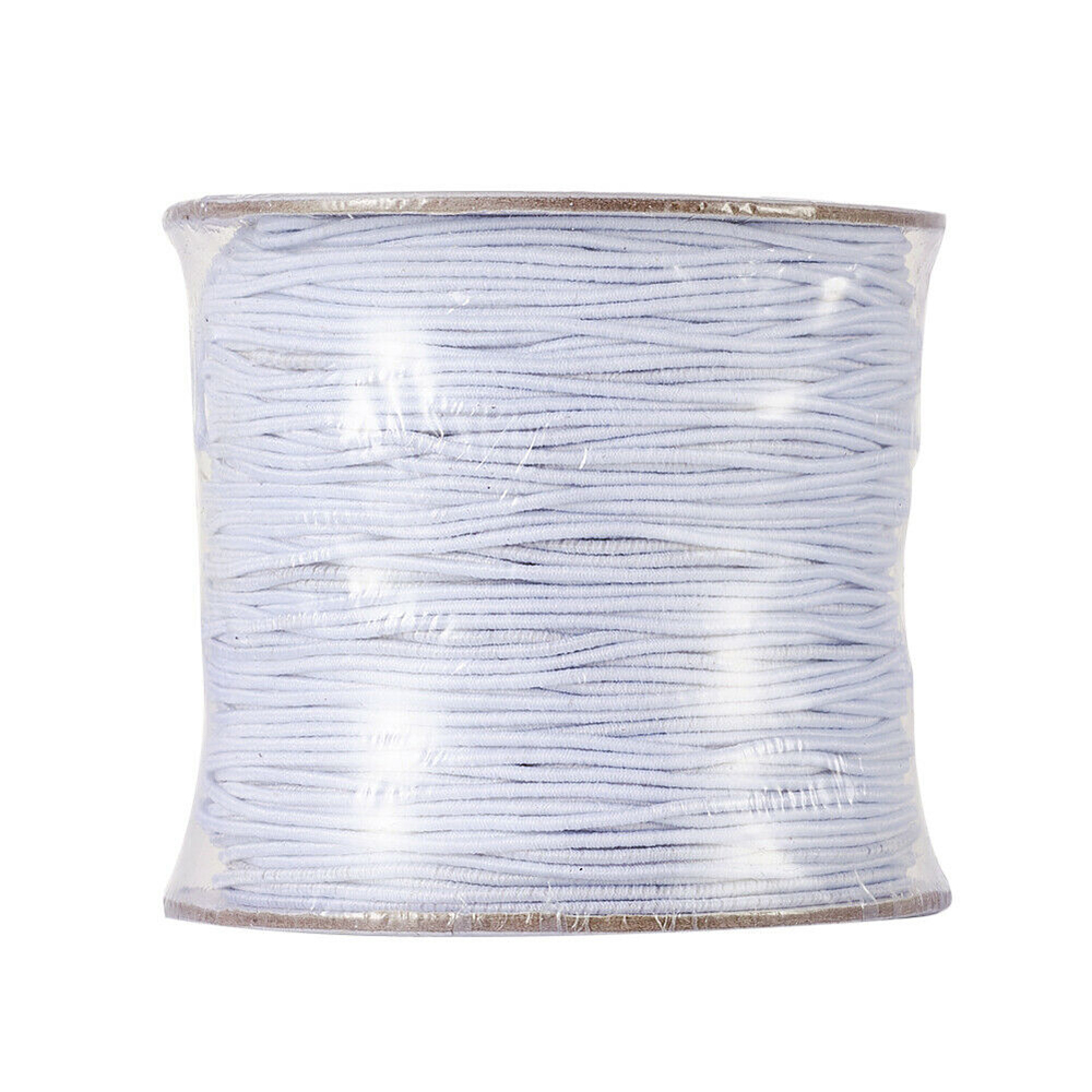 100/50m Roll White Round Elastic Cord String Thread DIY Necklace Bracelet Crystal Stretch Line Mask Making Accessories