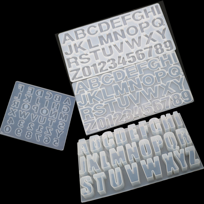 Long Hemisphere Collection Mold Letters And Numbers Moulds UV Resin Jewelry Molds Jewelry Tools Jewelry Accessories