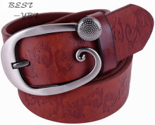 Wide belts for women brand full grain 100% genuine leather high quality fashion cowgirl belt jeans strap designer flower