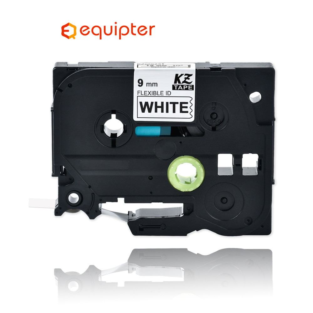 9mm Black On White Tze-FX221 Flexible Label Tapes Compatible For Brother P-touch Printers Tze Label Tape Ribbon Tz-FX221 TZFX321
