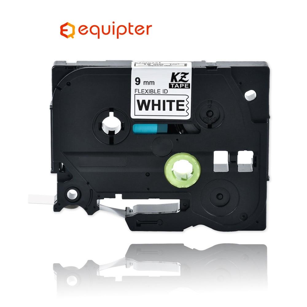 9mm Black On White Tze-FX221 Flexible Label Tapes Compatible For Brother P-touch Printers Tze Label Tape Ribbon Tz-FX221 TZFX321