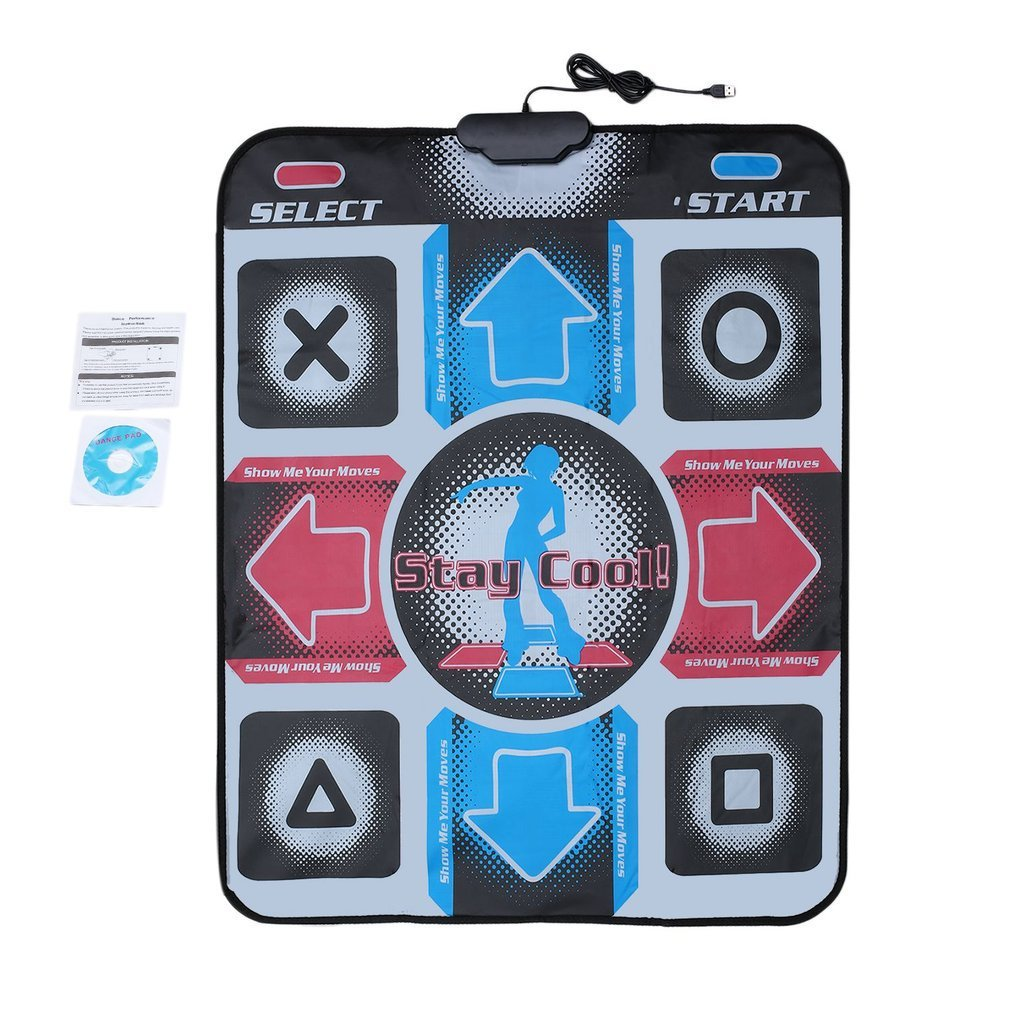 HD Revolution Non-Slip Dancing Step Dance Mat Pad Pads Dancer Blanket Fitness Equipment Foot Print Mat To PC With USB New