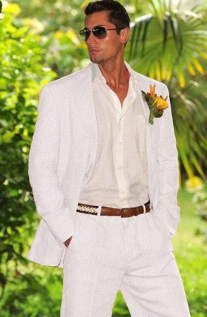 Summer-Beach-White-Linen-Mens-Suit-Groom-Tuxedos-Groomsmen-Wedding-Blazer-Suits-For-Men-Stylish-2pieces