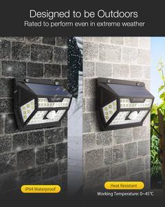 Image 2 - Blitzwolf BW OLT1 Smart Pir Motion Sensor Controle Solar Power 62 Led Wall Lamp Waterdicht Voor Outdoor Garden Path Yard