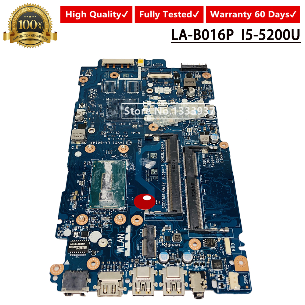 For Dell Inspiron 5448 5548 Laptop Motherboard ZAVC1 LA-B016P SR23Y I5-5200U 100% Fully Tested Mainboard