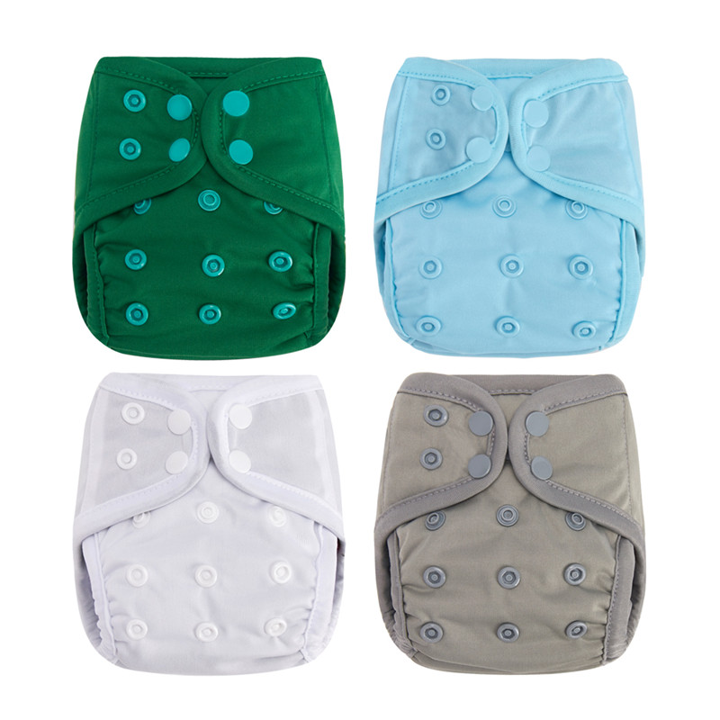 NB M OS 3 Sizes Available Washable Cloth Diaper Infantil Pokcet Diaper Modern Reusable Baby Nappies Bamboo Charcoal Lining
