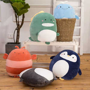 Soft Animal Cartoon Pillow Cushion Cute Lion Panda Dinosaur Penguin Whale Lobster Plush Toy Stuffed Plush Toy For Birthyday Gift