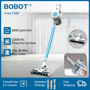 Image 1 - BOBOT Free 7180 23000Pa Multifunction Handheld Vacuum Cleaner With 12 Level HEPA Filter System Portable Vertical Cordless Vacuum