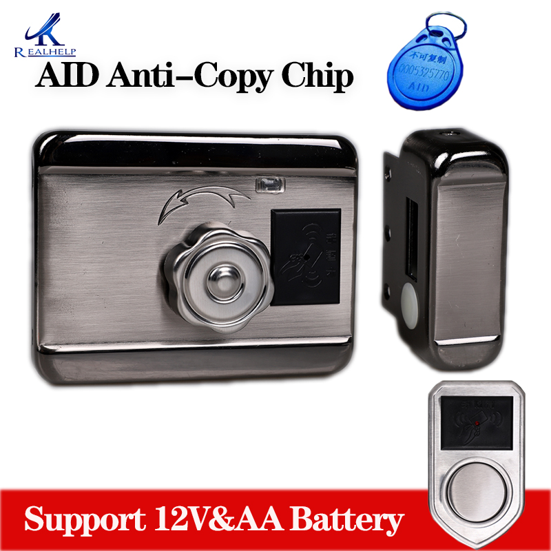 Gate Smart Lock Home Office Keyless Locks Security Door AID Chip Anti Copy Chip Lock HIgh Quality Lock Support AA Battery
