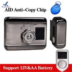 Gate Smart Lock Home Office Keyless Sloten Beveiliging Deur Aid Chip Anti Kopie Chip Lock Hoge Kwaliteit Lock Ondersteuning Aa batterij
