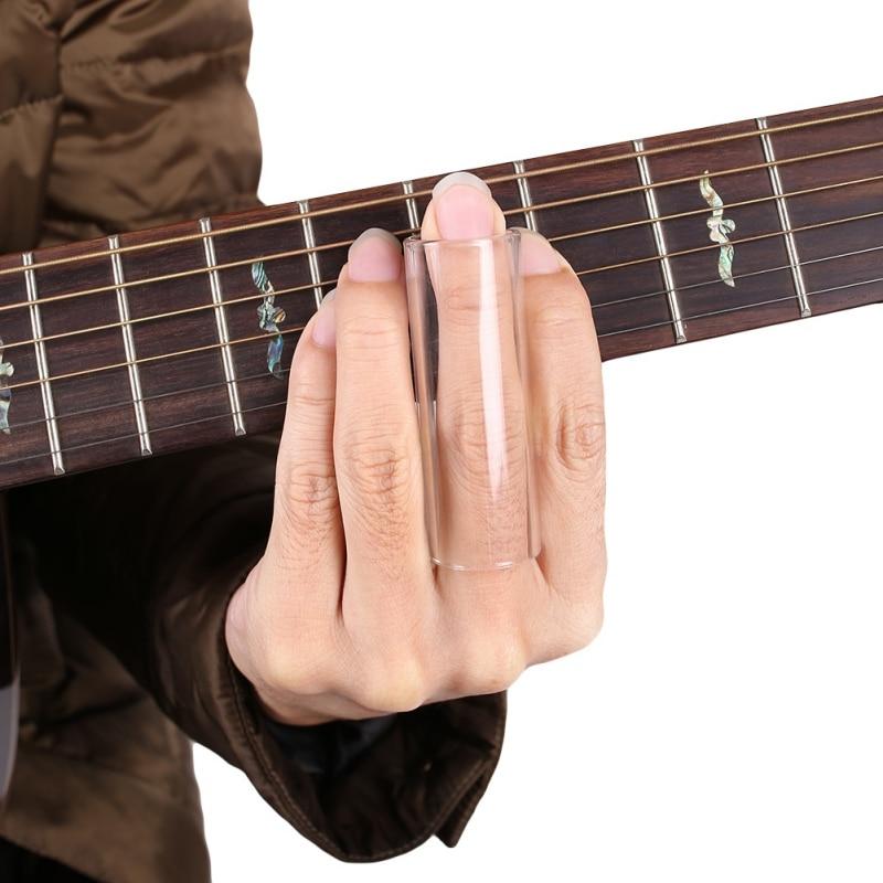 Guitar Slide Glass Finger Slider Electric Guitar Parts Pick Accessories Tube Knuckle High Quality Material Plexiglas K