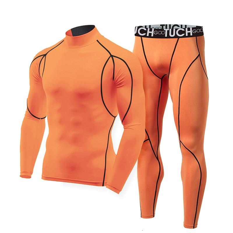 Fashion Cotton Thermal Underwear Winter Men Long Johns Sets Compression Plus Size Long Johns Fitness Bodybuilding Shapers 257576